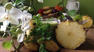 Cilantro Pineapple Banana Smoothie ~ Take 3