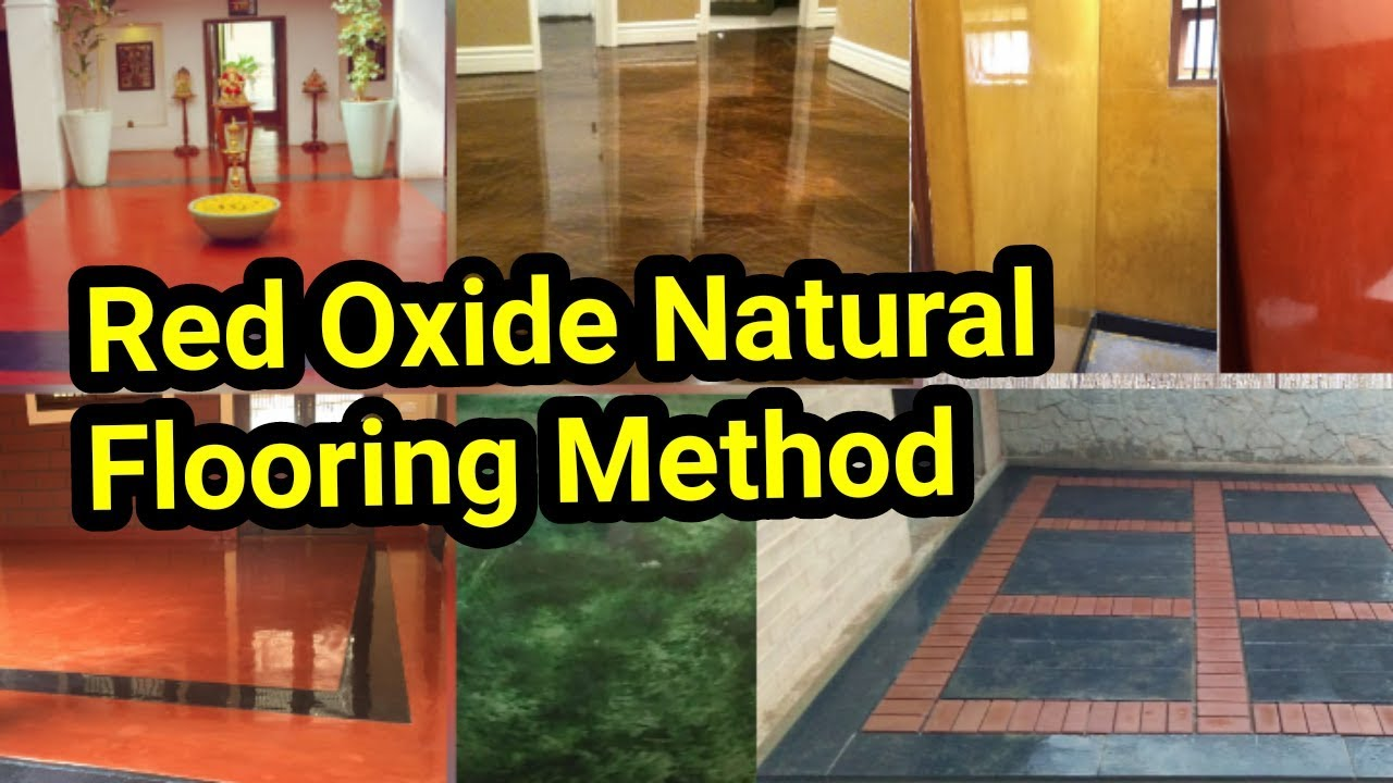 Best Flooring for home Red Oxide natural and traditional flooring tamil