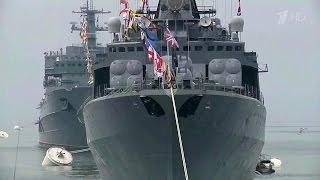 Владимир Путин прибыл в Санкт‑Петербург на празднование Дня Военно‑морского флота.