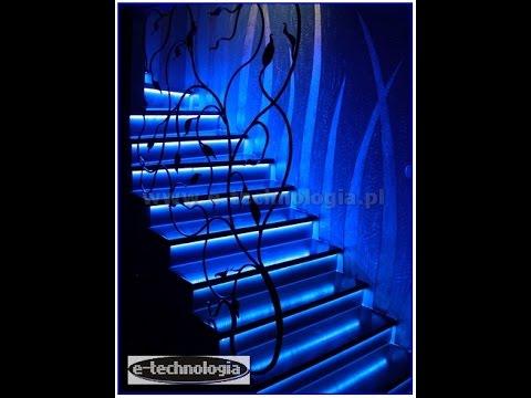 Oświetlenie Schodów Led Oświetlenie Schodowe Led Paski Led Montaż Taśm Led W Schodach Profile