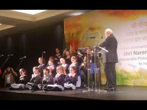 IRISH kids sing SANSKRIT Shlokas to welcome Narendra Modi in Ireland