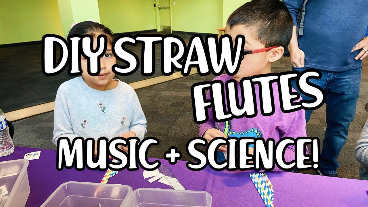 DIY Straw Flutes Tutorial