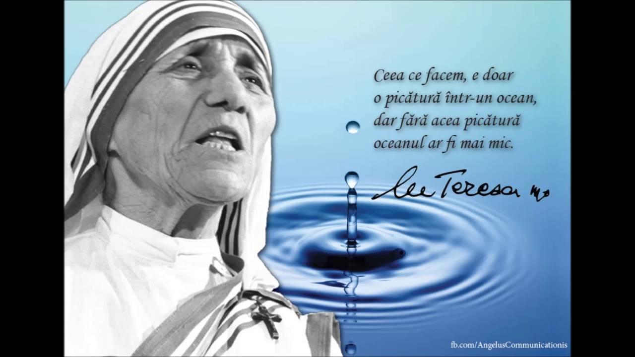 maica tereza citate Maica Tereza | Gânduri   YouTube maica tereza citate