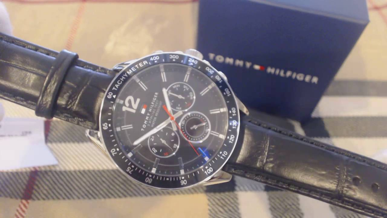 9be48c7a7e Men's Tommy Hilfiger Multi Function Leather Strap Watch 1791117