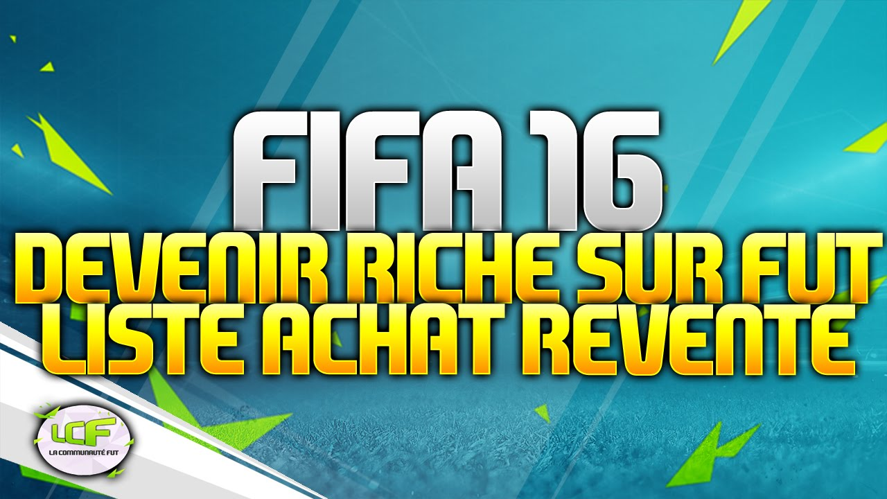 fut 16 devenir riche sur fut 16 c 39 est possible liste de joueurs achat revente youtube. Black Bedroom Furniture Sets. Home Design Ideas