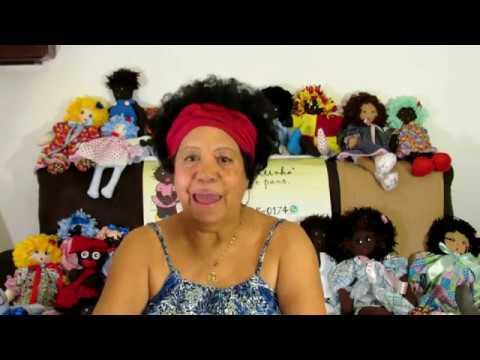 Linda Bonequinha Preta De Pano Com Molde Parte 1 Cute Black