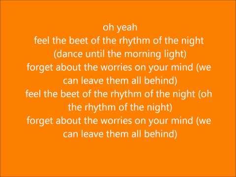 Rhythm of the night LYRICS