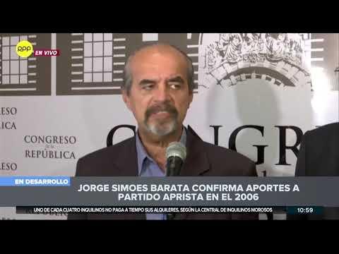 Bancada: Declaración de Jorge Barata demuestra inocencia de Alan García 1/2