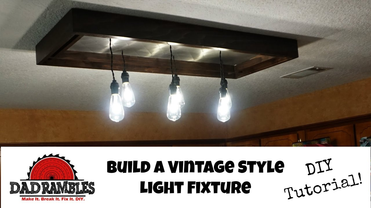Diy Vintage Style Kitchen Light Tutorial