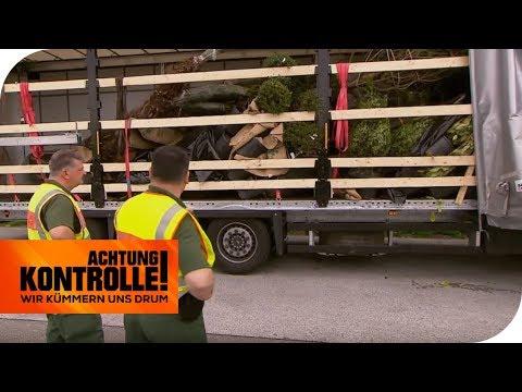 Abenteuerliche Ladungssicherung: Dieser LKW fährt nicht weiter! | Achtung Kontrolle | kabel eins