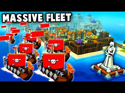 BIGGEST Viking Invasion Ever! Unstoppable Fleet! (Kingdoms and Castles New Update Gameplay)