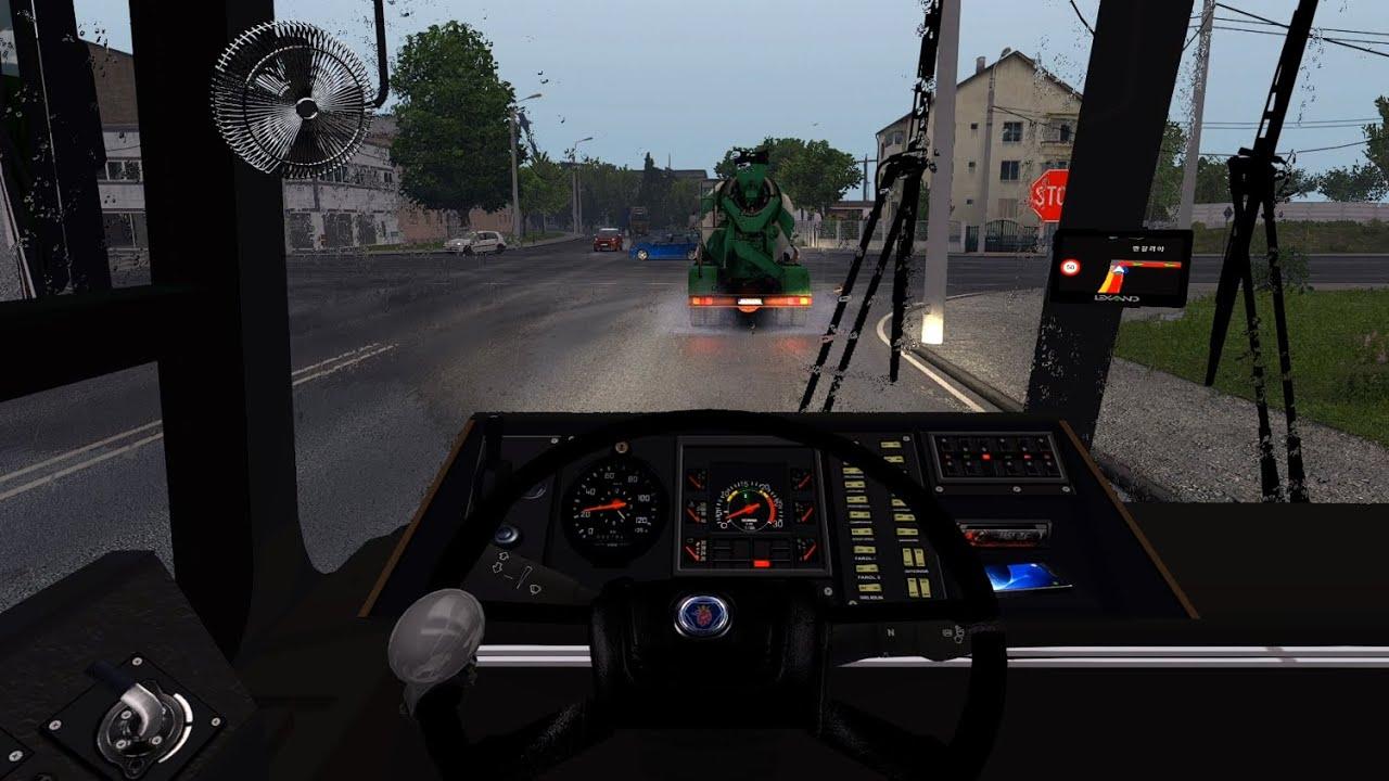Scania Nielson Diplomata Bus - Euro Truck Simulator 2 [Steering wheel gameplay]