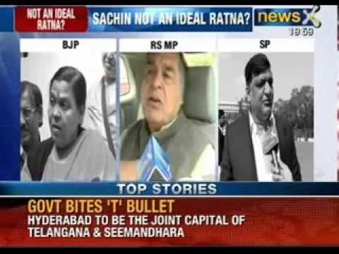 Politics over Bharat Ratna: Sachin Tendulkar not an ideal Ratna? - NewsX