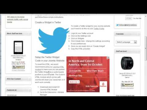 Create a Twitter Widget for your Joomla website