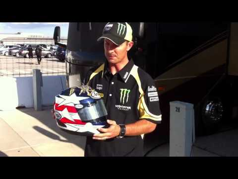 MotoGP's Colin Edwards respecting the Navy Seals
