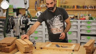126 Ozdobny stojak na drewno opałowe Part 1 / Decorative firewood rack