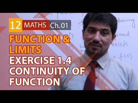 2nd Year Math, Ch 1 - Continuity of Functions Exercise 1 4 - 12th Class  Maths