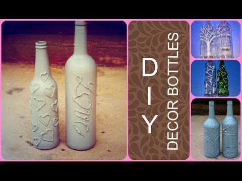 Diy Decor Bottles Glue Gun Decorating How To