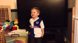 "Toby aged 2 2/3 sings ""Goodnight Irene"""