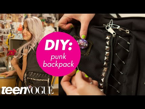 How to Give Your Backpack a Rock Star Makeover - Teen Vogue