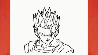 HOW TO DRAW GOHAN FROM DRAGON BALL Z