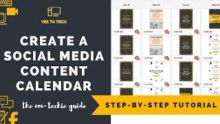 HOW TO CREATE A SOCIAL MEDIA CONTENT CALENDAR - Free Content Calendar For Social Media