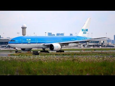 KLM Asia Boeing 777-200 Takeoff Runway 23 Toronto Pearson | PH-BQI