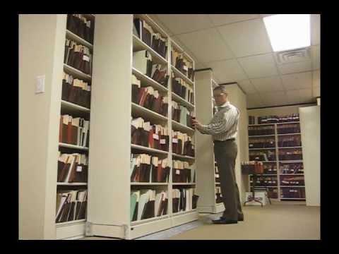 Sideways Sliding Shelves  Rolling Legal File Box Storage Shelving  YouTube