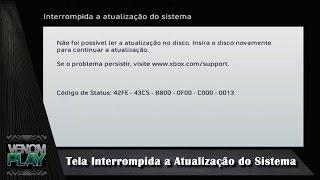 Xbox 360 Tela Interrompida a Atualização do Sistema