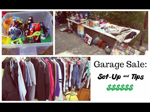Garage Sale: Set-up & Tips   How to Set-Up Your Yard Sale to Make the Most Money