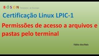 Permissões de acesso a arquivos e pastas pelo terminal Linux