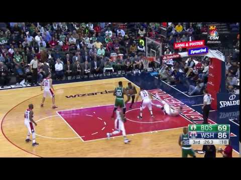 Otto Porter huge block on Jaylen Brown - Washington Wizards vs. Boston Celtics - NBA - 09/11/2016