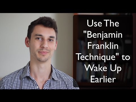 "Use The ""Benjamin Franklin Technique"" To Easily Start Waking Up Earlier  - #TinyHabitFriday"
