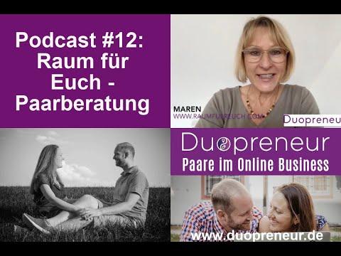 """Duopreneur-Podcast für Paare im Online Business:#12 """"Raum für Euch"""" - Paarberatung"""