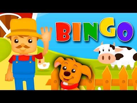 BINGO Nursery Rhyme Kids Songs Club Children's Sing Songs B I N G O Was His Name O Dog Song Clapping