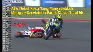 Aksi Nekat Rossi Mengejar Marquez Yang Menyebabkan Marquez Kecelakan Parah Di Lap Akhir
