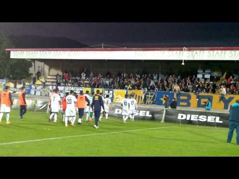 Bassano Virtus-Parma 1-0, finale. I Crociati dai tifosi