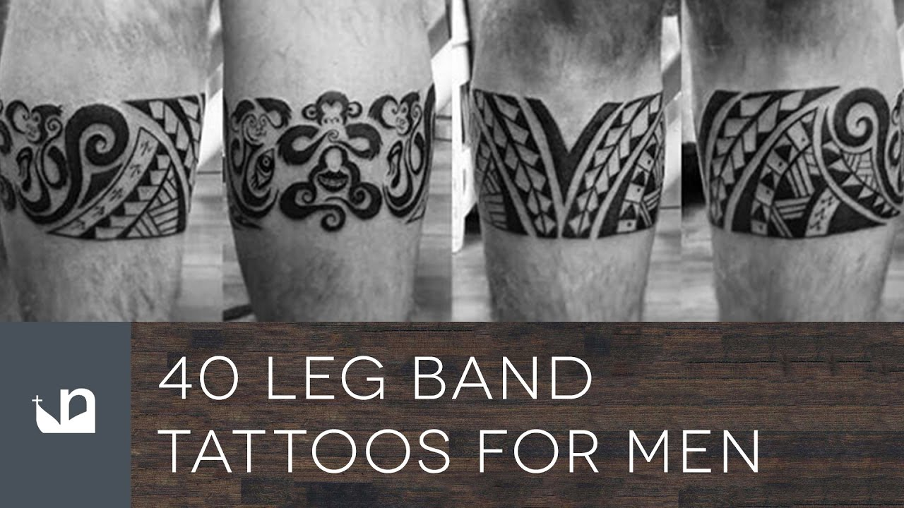 40 Leg Band Tattoo Designs For Men – Masculine Ink Ideas