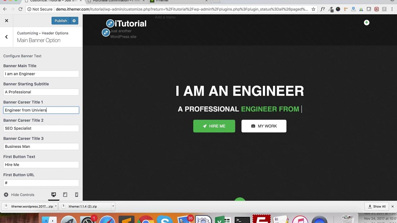 iThemer Multipurpose Portfolio Resume Theme - iThemer