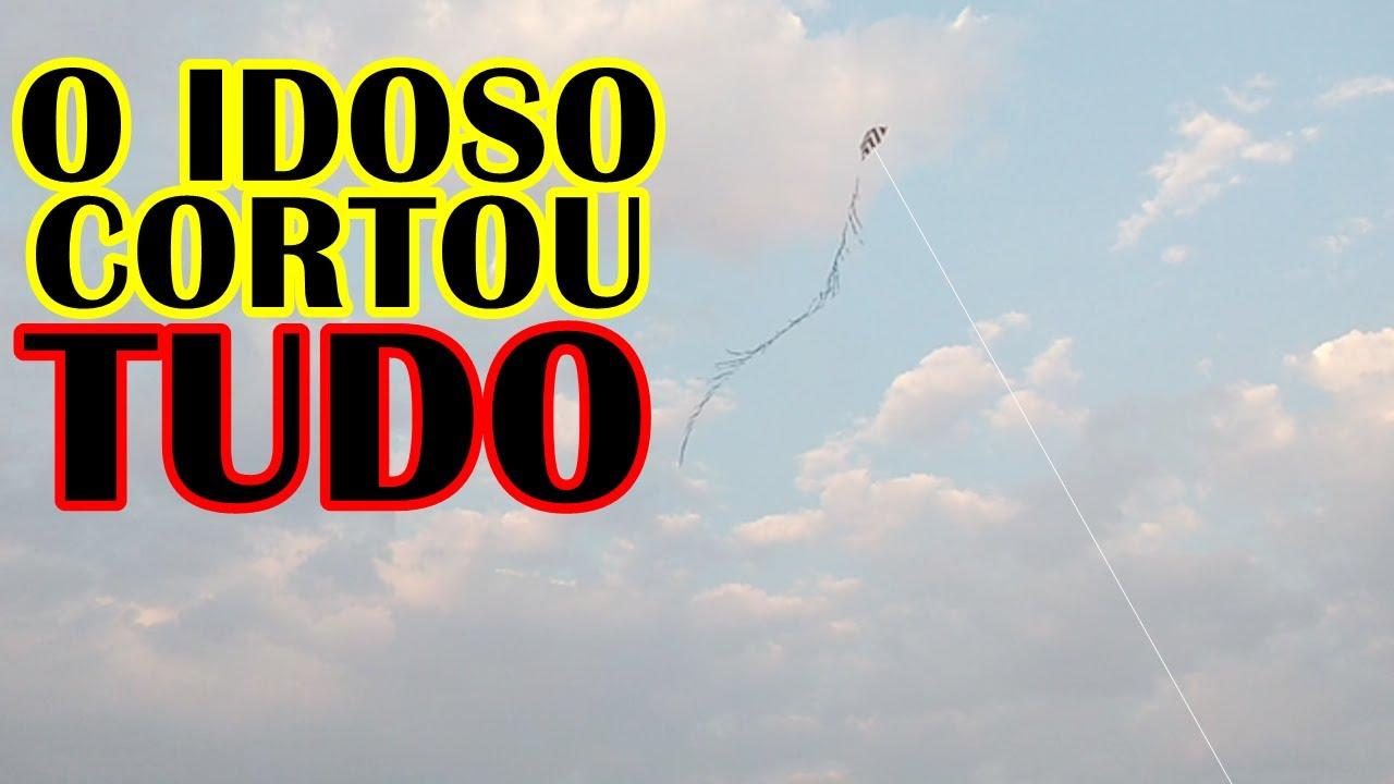 A PIPA REMENDADA DO IDOSO CORTOU TUDO   Escola de Pipeiros