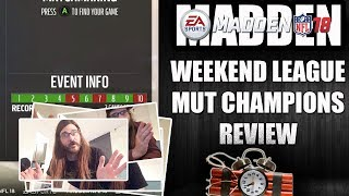 MADDEN 18 WEEKEND LEAUGE REVIEW