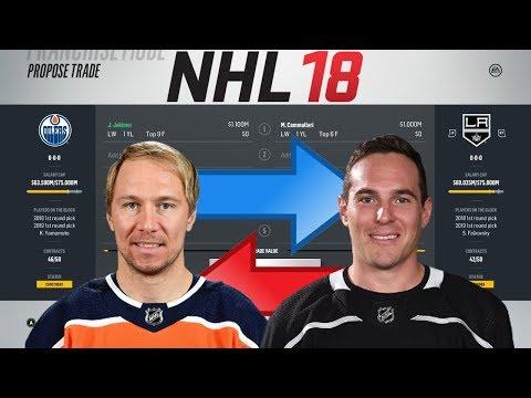 NHL 18 - JOKINEN FOR CAMMALLERI TRADE SIMULATION