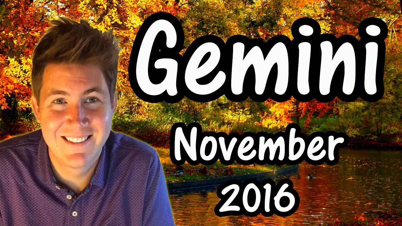 Gemini November 2016 Horoscope