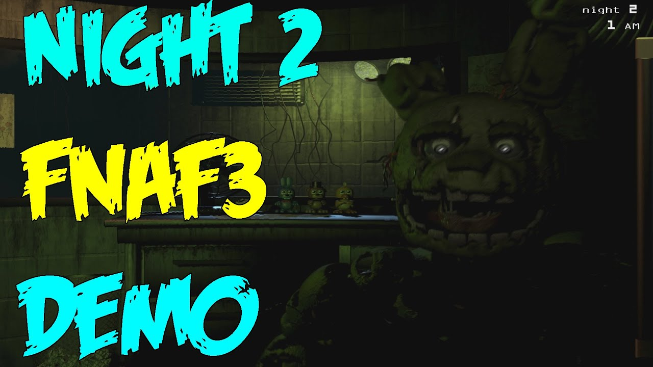 Night 2 complete five nights at freddy s 3 demo gameplay balloon boy