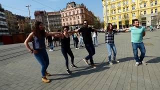 Sirtaki dance in the freedom square of Brno