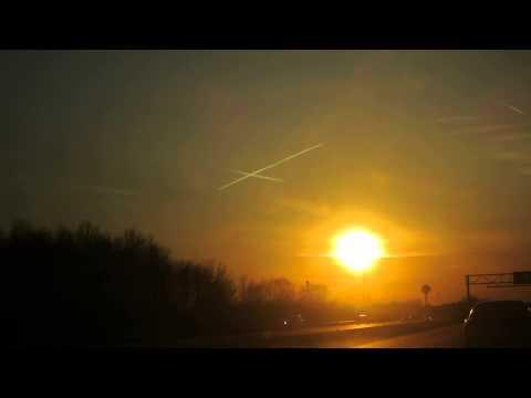 A Beautiful Sunset + An Inverted Cross = Neutral Omen