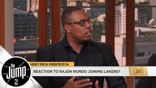 Lakers sign Rajon Rondo: How does he fit next to LeBron James? | The Jump | ESPN thumbnail