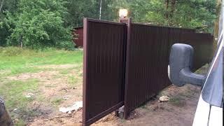 видео Купить автоматические откатные ворота с установкой в СПБ: цены