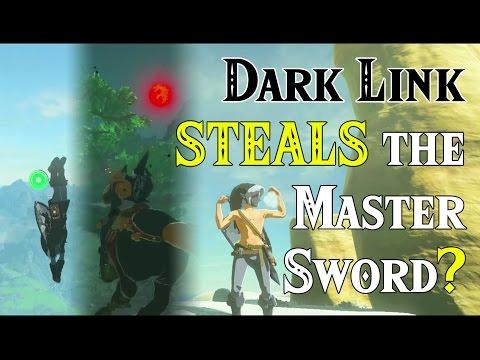 Dark Link STEALS the Master Sword? ..VS ????.. in Zelda Breath of the Wild (Four Links Adventures)