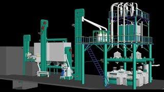 150T  Maize milling machine maize/corn flour making machine maize flour mill plant